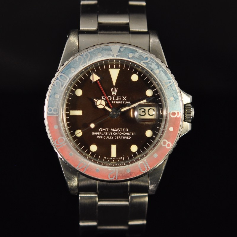 ROLEX GMT REF. 1675 LONG E TROPICAL