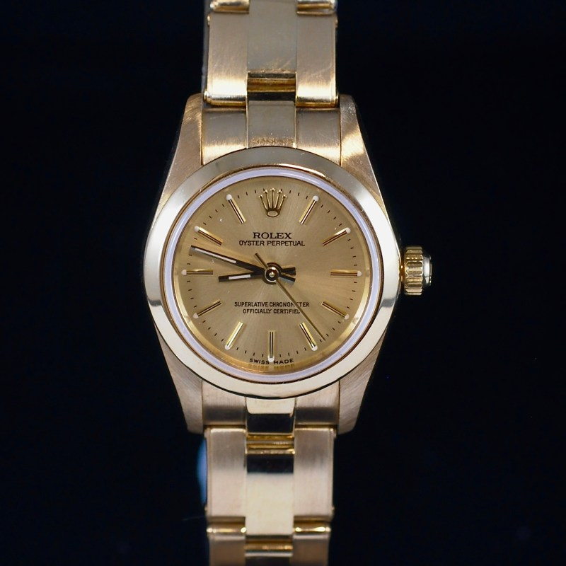 ROLEX LADY'S OYSTER PERPETUAL REF. 76188 YELLOW GOLD