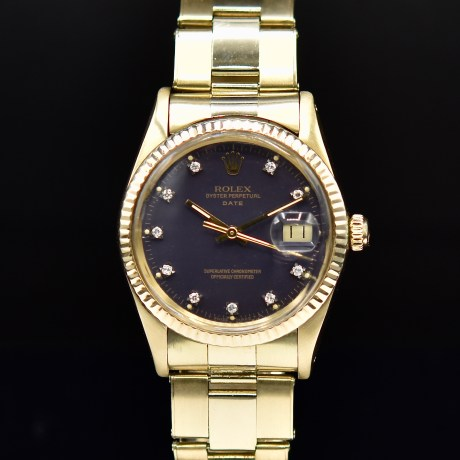 ROLEX OYSTER DATE REF. 15037 YELLOW GOLD