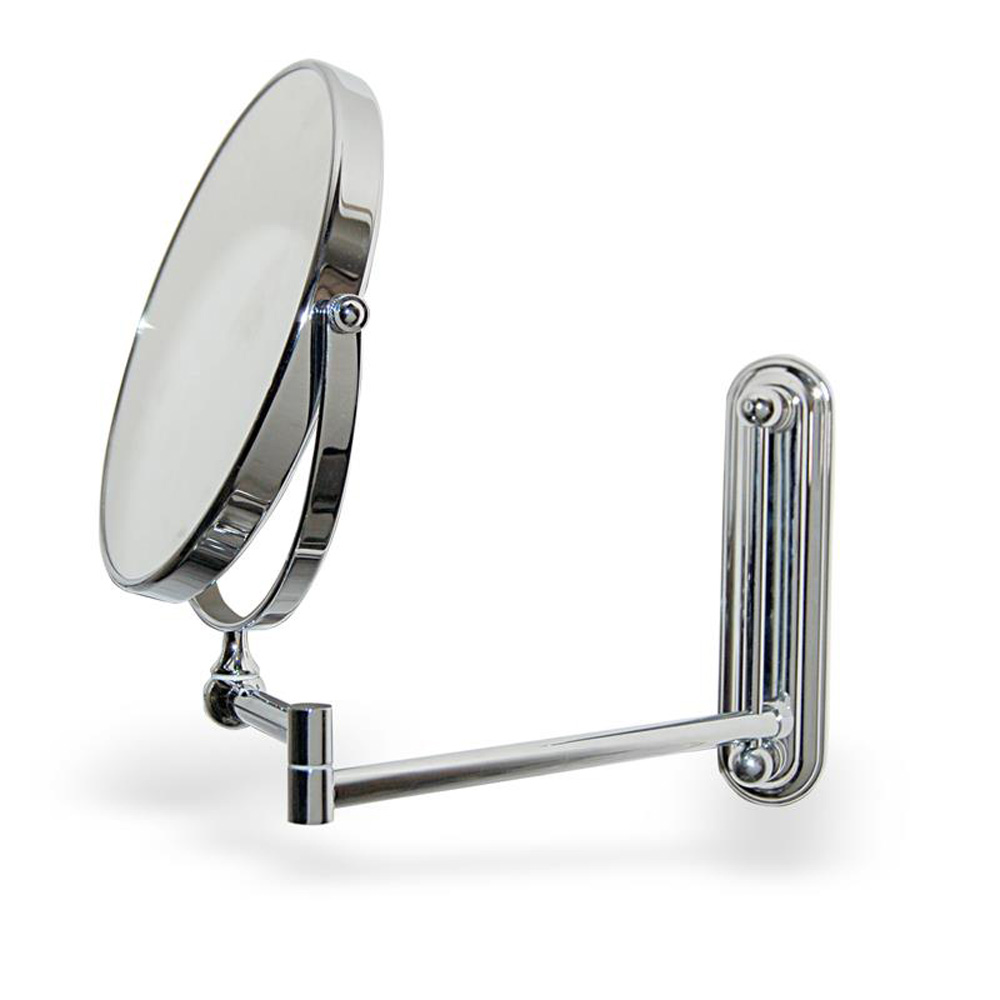 Extendable Round Wall Mounted Vanity Shaving Mirror