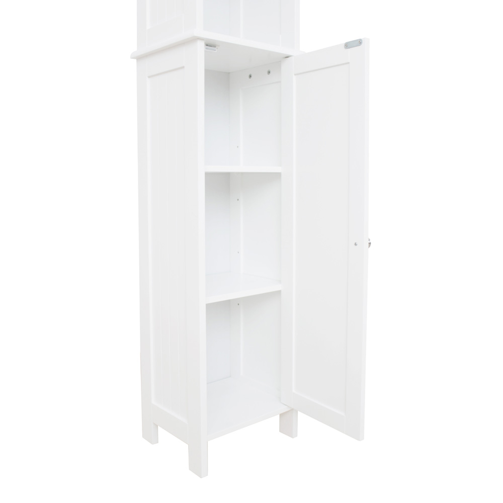 White Shaker Tall Boy Cabinet  Roman At Home