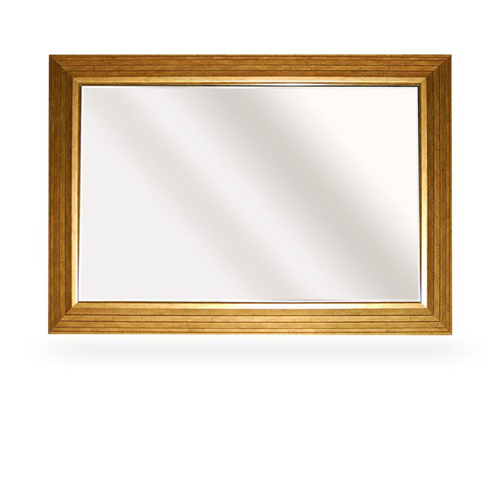 Bevelled Gold Framed Large Wall Mirror