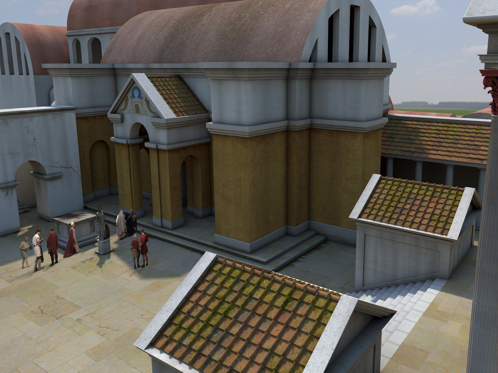 hight resolution of ancient roman house diagram