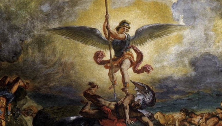 st. michael defeats satan
