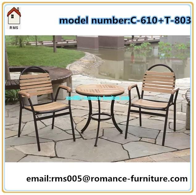 wicker rattan outdoor furniture wood powder coating metal frame c610 t803