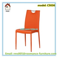 Metal Frame Leather Dining Chair Perfect Posture Beautiful Color Modern C5036