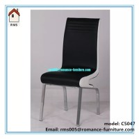 special design modern leather dining chair black and white