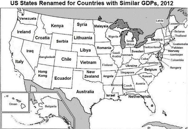 Romania's economy, similar in size to America's 30th