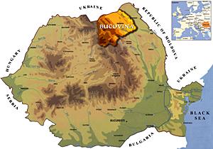 Harta Romania - Bucovina