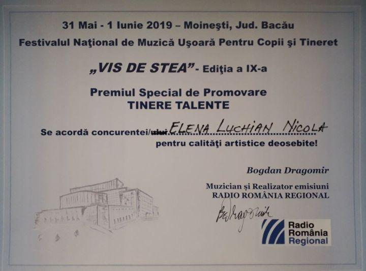 Diploma Premiul Tinere Talente Vis de Stea 2019.1100 (Foto by Bogdan Dragomir)