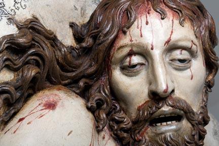 Detail from Gregorio Fernández, 'Dead Christ' (c.1630)
