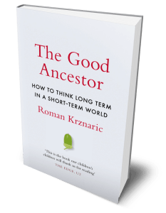The Good Ancestor book cover in 3D.