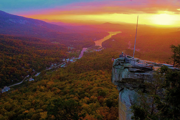 Wallpaper Fall Weather Events At Chimney Rock