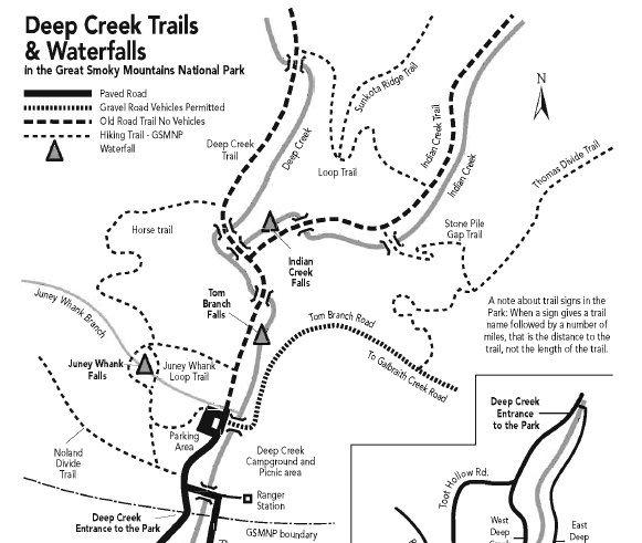 Deep Creek Waterfalls & Tubing, Great Smoky Mountains