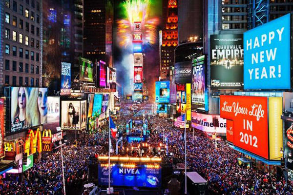 Times Square New York Fireworks