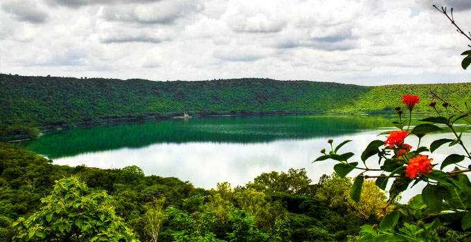 Lonar Crater Lake in Aurangabad,