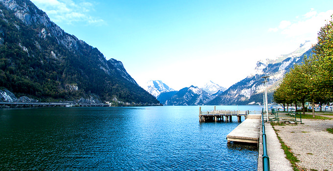 Traunsee Lake in Austria