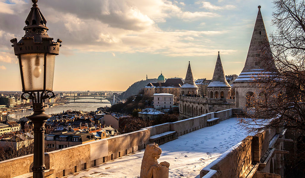 Snow in Budapest
