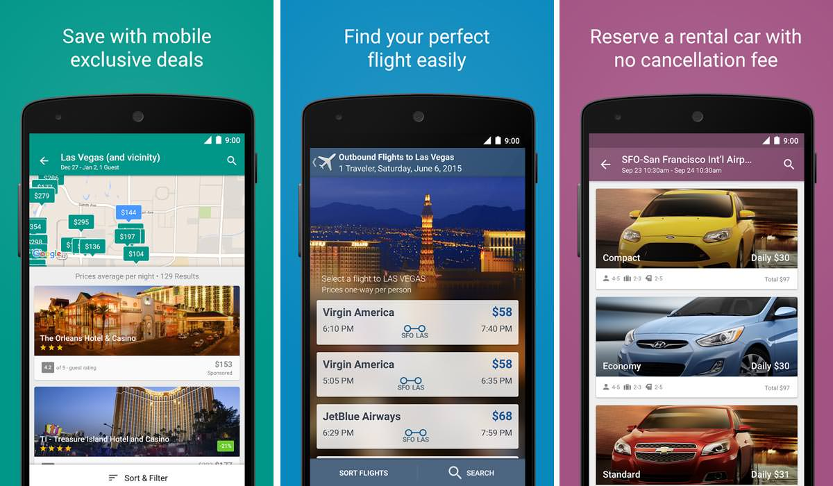 Expedia Hotels, Flights & Cars Rental Apps
