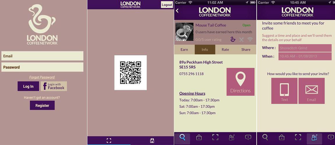 London Coffee Network App