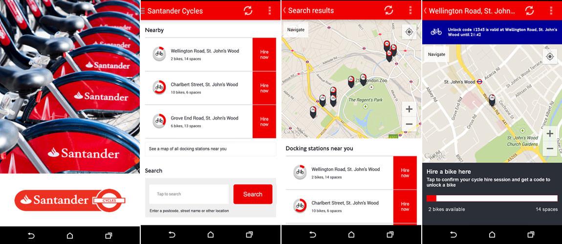 Santander Cycles App For London