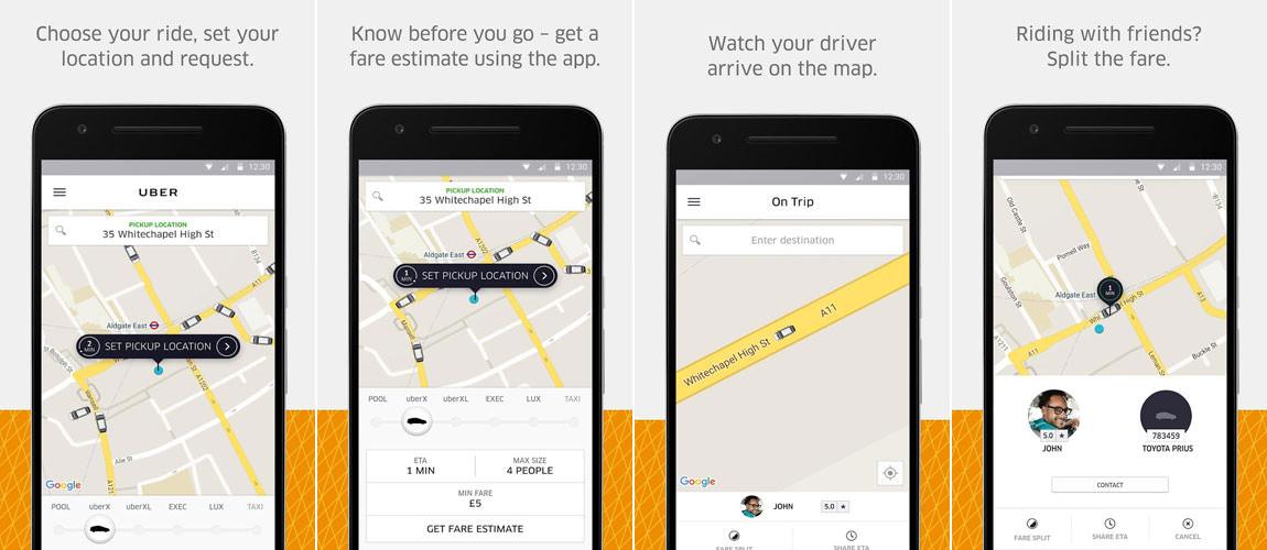 uber car rental app