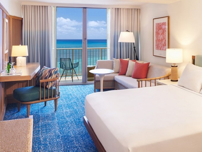 Romantic room in Outrigger Reef on the Beach Hotel, Honolulu