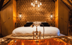 Crazy Bear Hotel Stadhampton, United Kingdom with some of the most Romantic themed hotel rooms