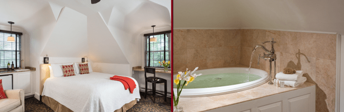 A suite with jacuzzi in The Chateau Inn and SuitesSpring Lake Beach