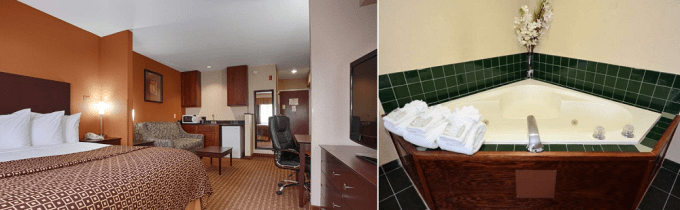 Jacuzzi Suite in Best Western Concord Inn and Suites, NH