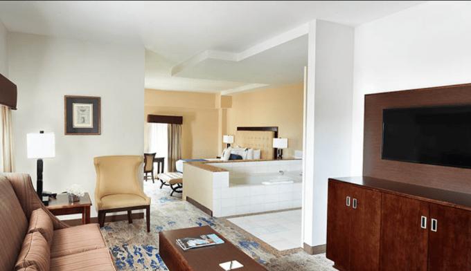 Jacuzzi suite in Atheneum Suite Hotel, Detroit