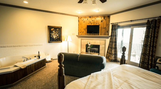 Orleans Suite - a suite with a fireplace and Whirlpool tub for two in French Manor Inn & Spa
