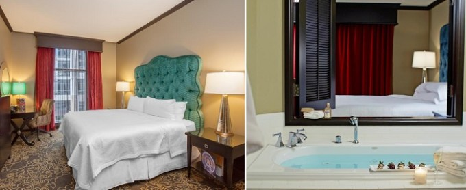 A Jacuzzi suite in Grand Bohemian Hotel Orlando, Autograph Collection