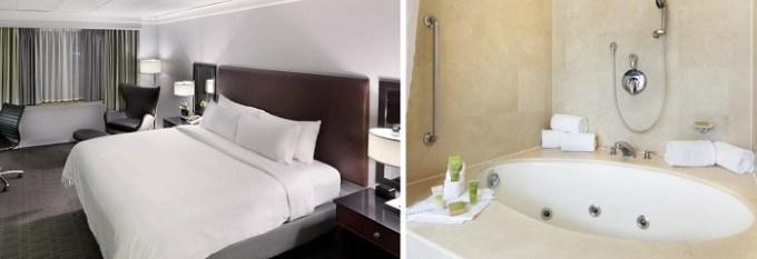 Jacuzzi suite in Hilton Mystic Hotel, CT