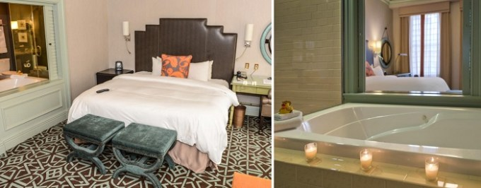 Jacuzzi suite in Hotel ICON, Autograph Collection in Houston, TX