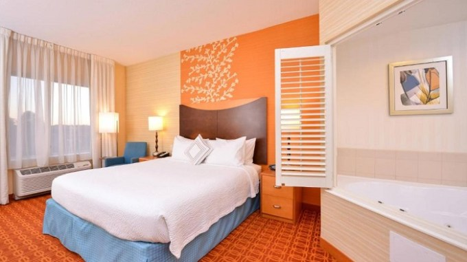 Room with in-room Jacuzzi in Fairfield Inn & Suites White Marsh, Baltimore, MD