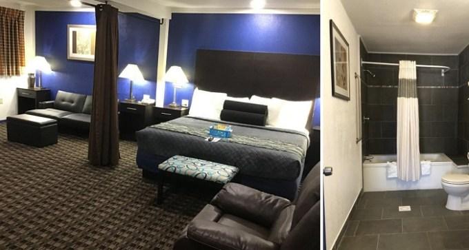 Jacuzzi suite in Budget Inn & Suites Hotel in OKC