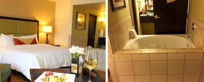 King room with Jacuzzi inside in Hilton Garden Inn Oklahoma City Midtown Hotel