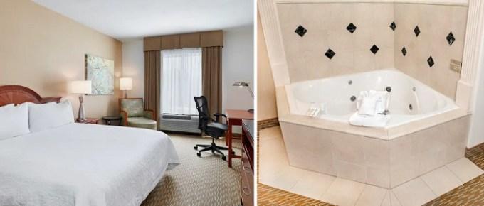 King room with Whirlpool in Hilton Garden Inn Charlotte Pineville Hotel