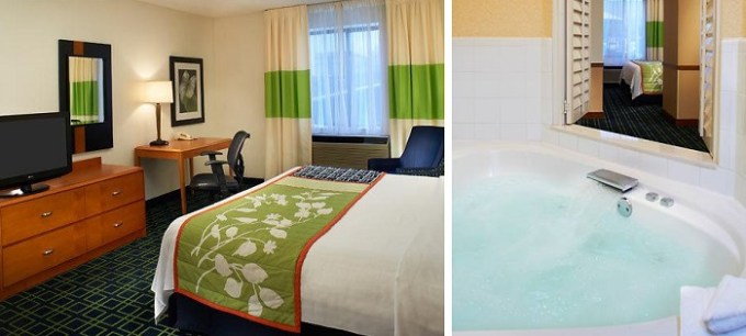 Spa Suite with Whirlpool in Fairfield Inn & Suites Indianapolis East by Marriott Hotel