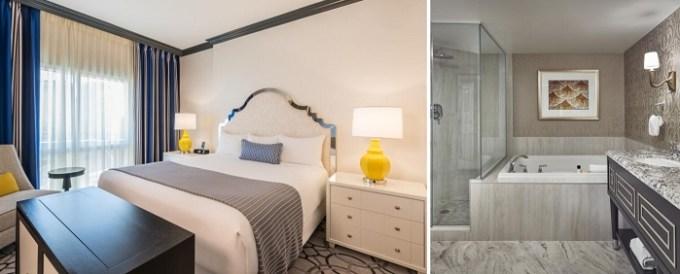 Hot tub suite in the room in Paris Las Vegas Hotel & Casino