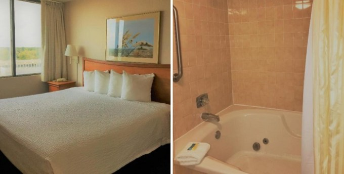 Oceanfront suite with private Whirlpool in the room in Four Sails Resort Virginia Beach