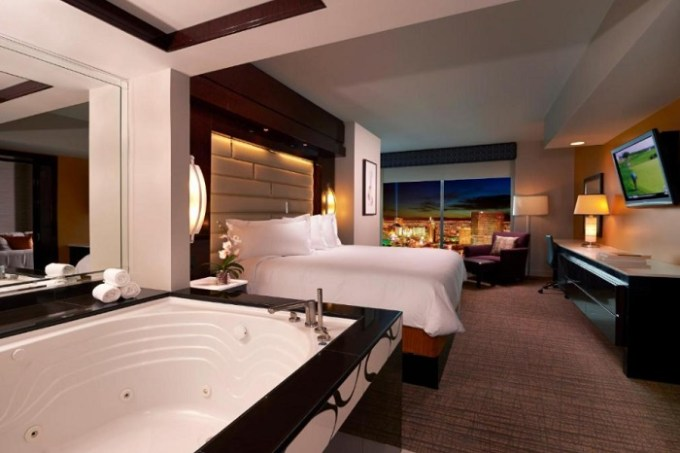 Suite with jetted tub in the room in Elara by Hilton Grand Vacations - Center Strip Las Vegas Hotel