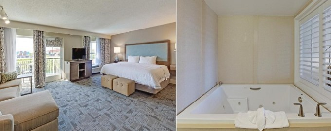 Jacuzzi suite in Hampton Inn Myrtle Beach Broadway at the Beach, SC
