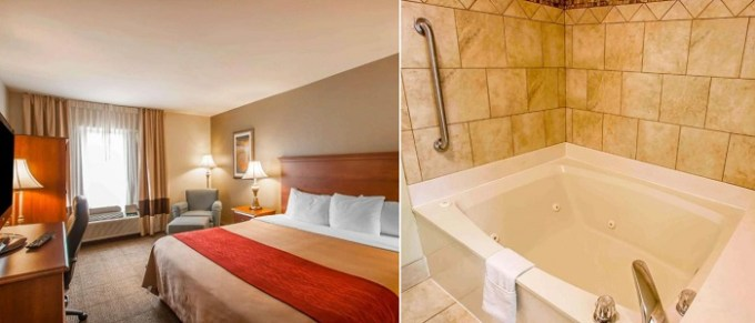 King suite with a private whirlpool tub in Quality Inn & Suites Germantown North, TN