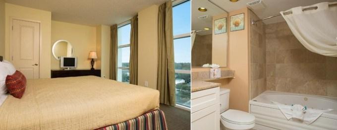 Oceanfront Jacuzzi suite in Seaside Resort, North Myrtle Beach, SC