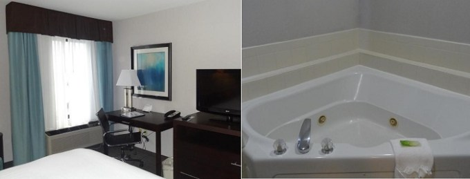 Room with a private hot tub in Holiday Inn Express Hotel Kansas City-Bonner Springs, KS