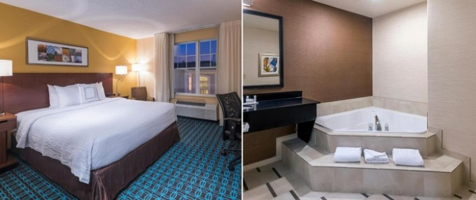 Suite with Jacuzzi in the room in Fairfield Inn Kansas City Downtown-Union Hill, MO