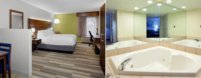 Suite with a hot tub in the room in Holiday Inn Express - Chester, near Richmond, VA