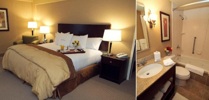 Whirlpool suite in DoubleTree by Hilton Pittsburgh Airport, Pensylvanya